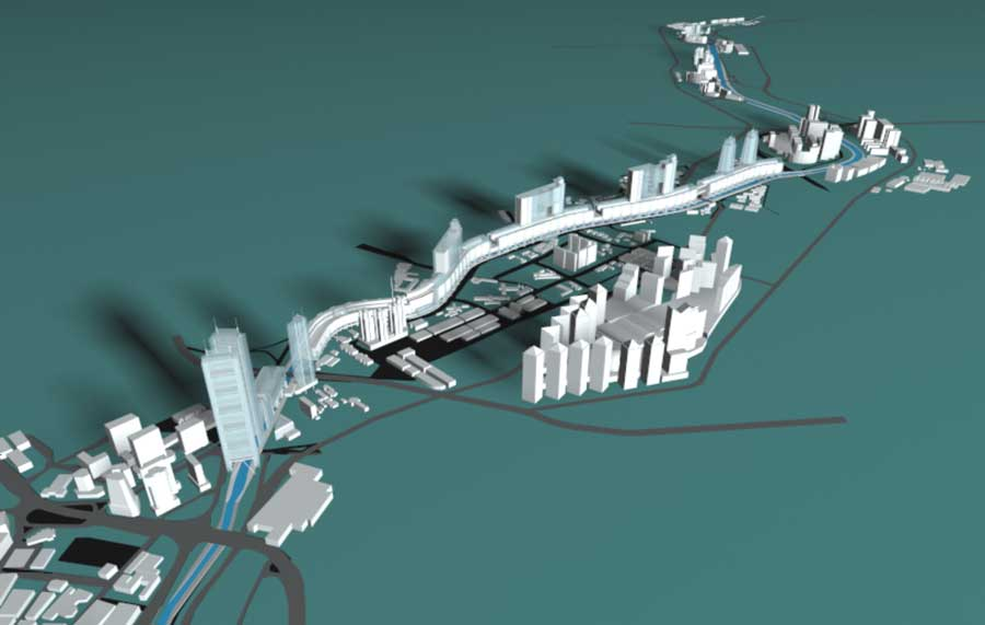 Kl Linear City Master Plan The Architectural Network Kuala Lumpur Malaysia
